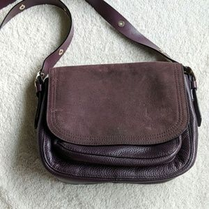 Kate Spade Suede and Leather Purple Crossbody Bag